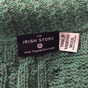 100% Wool Irish One Button Aran Cardigan